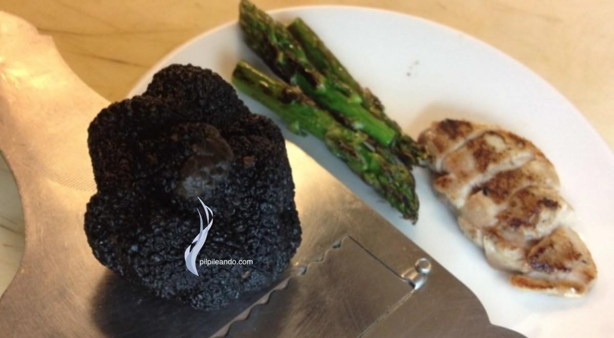 Arroz de codornices con trufa negra y trigueros for Arroz con setas y trufa